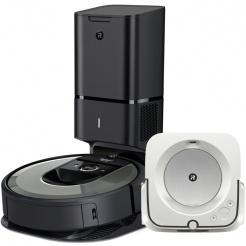 Akční set iRobot Roomba i7+ silver a Braava jet m6
