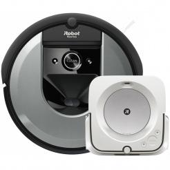 Akční set iRobot Roomba i7 silver a Braava jet m6