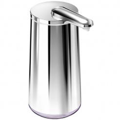 Bezdotykový dávkovač mýdla Simplehuman 295 ml silver - leštěná nerez ocel