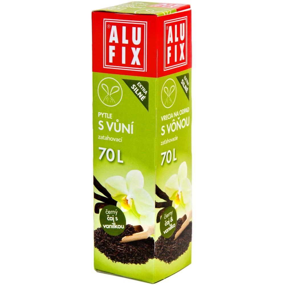 Pytle 70L do odpadkových košů se zatahovací páskou s aroma čaje s vanilkou