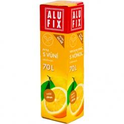 Pytle 70L do odpadkových košů se zatahovací páskou s aroma citronu