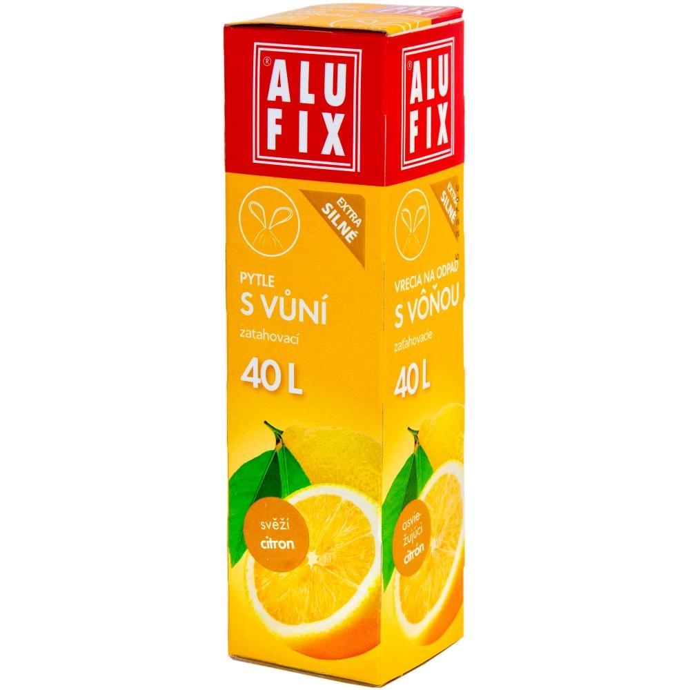Pytle 40L do odpadkových košů se zatahovací páskou s aroma citronu