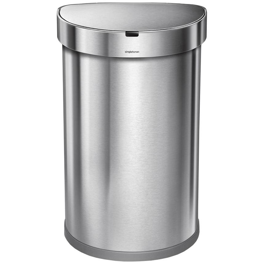 Bezdotykový koš  Simplehuman SEMI-ROUND 45L - silver