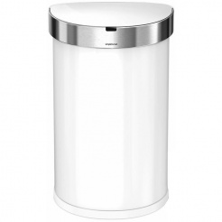 Bezdotykový koš  Simplehuman SEMI-ROUND 45L - white