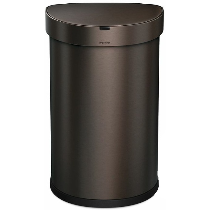 Bezdotykový koš Simplehuman SEMI-ROUND 45L - dark bronze
