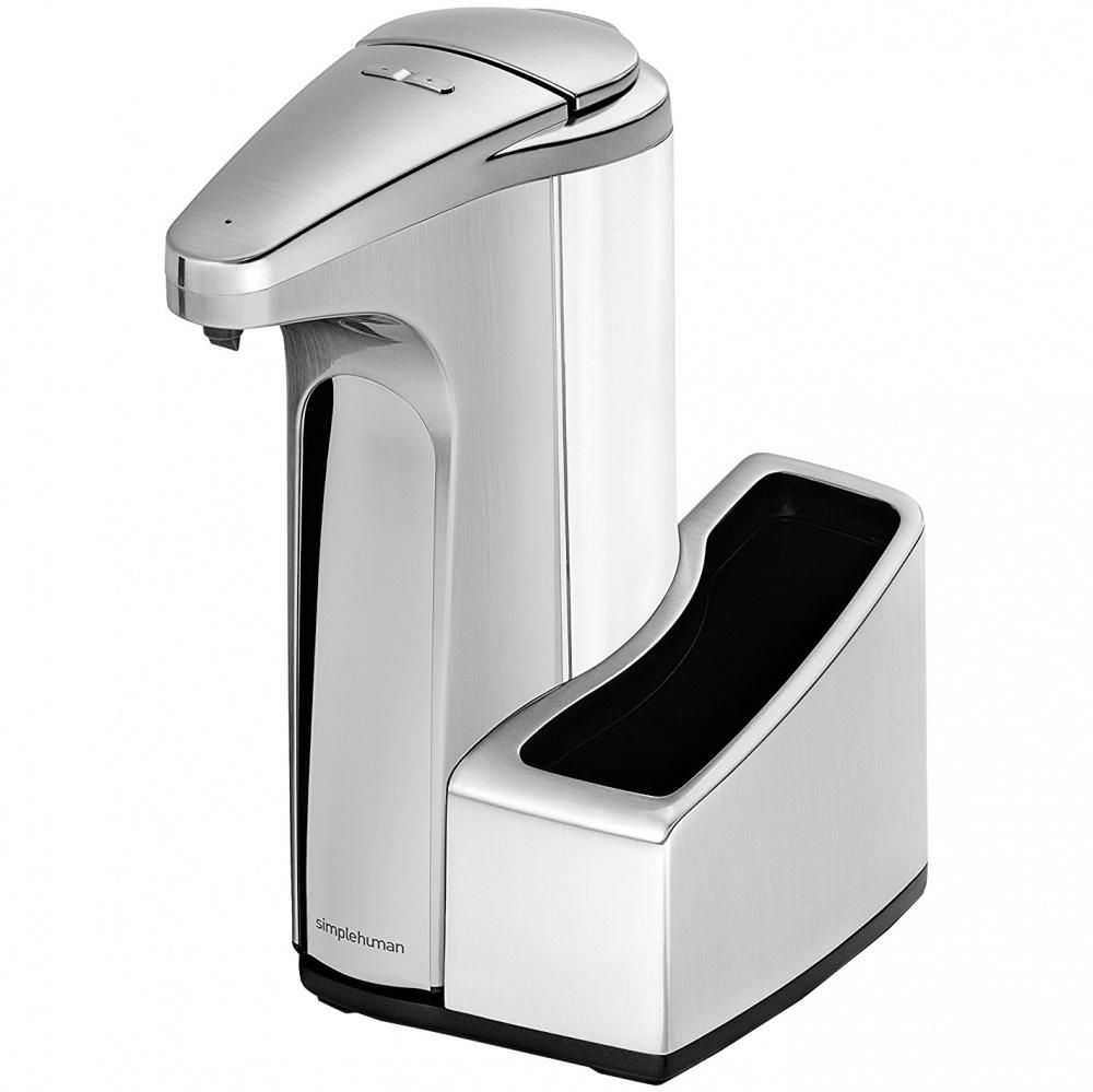 Bezdotykový dávkovač mýdla Simplehuman 384ml - matný nikl