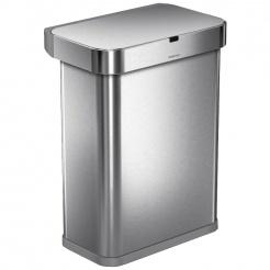 Bezdotykový koš  Simplehuman RECTANGULAR 58L - silver