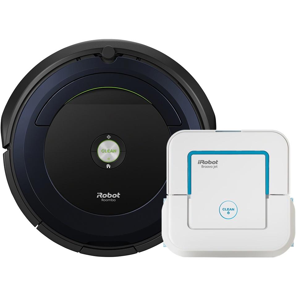 Set iRobot Roomba 695 + Braava jet 240