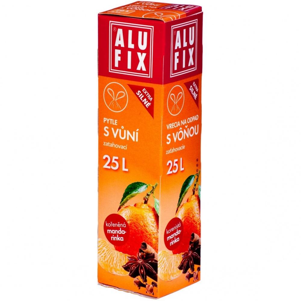 Pytle 25L do odpadkových košů se zatahovací páskou s aroma mandarinky