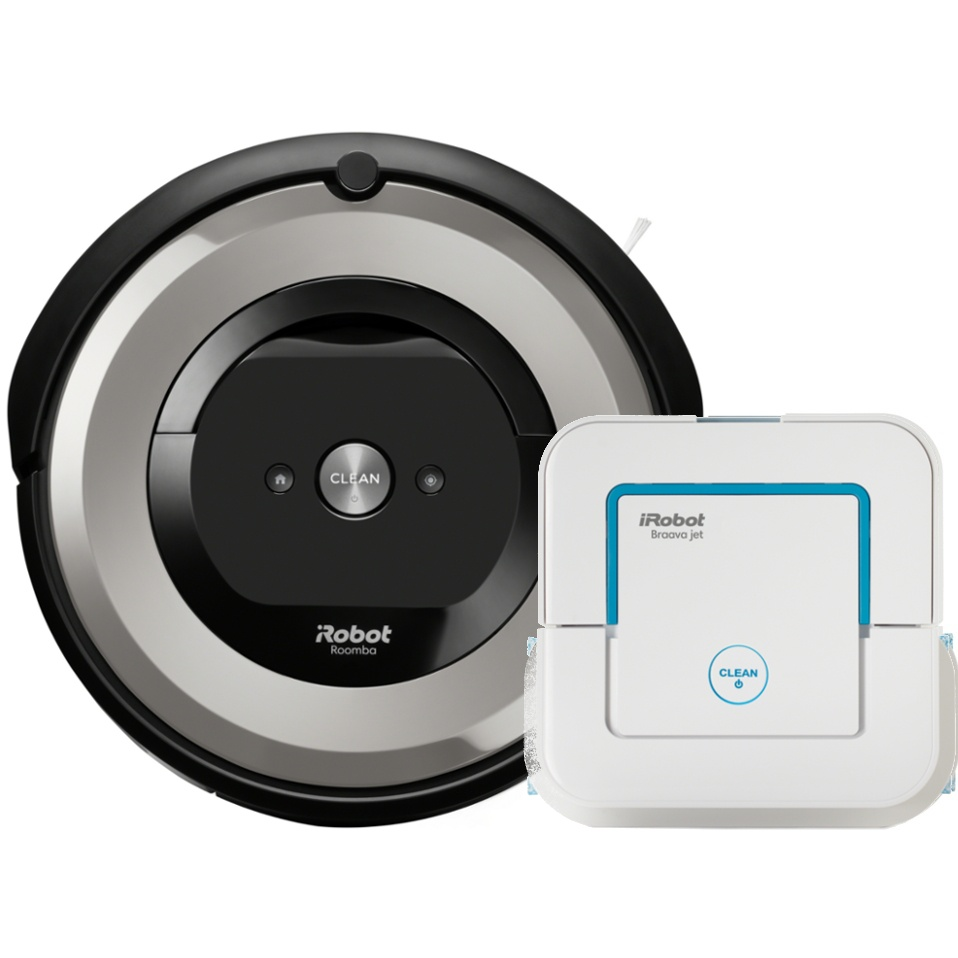 Akční set iRobot Roomba e5 silver + Braava jet 240