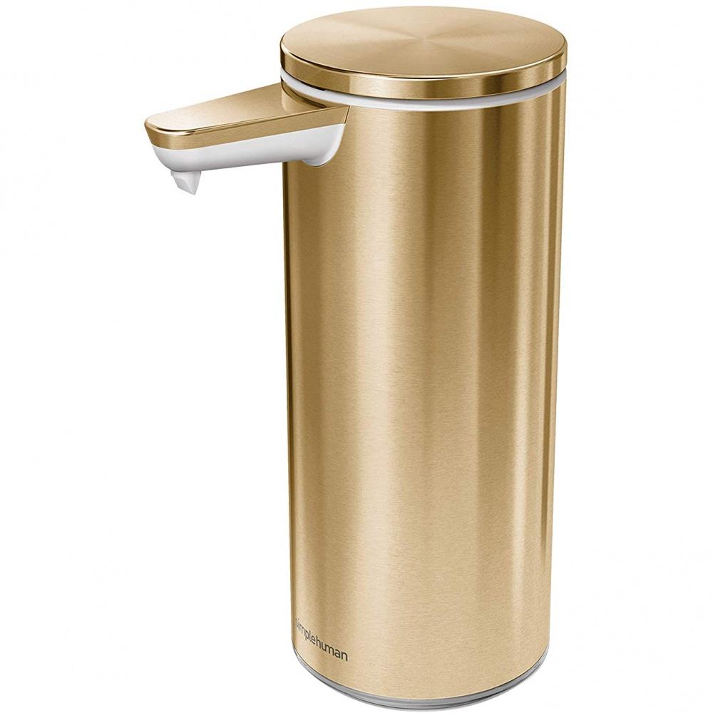 Bezdotykový dávkovač mýdla Simplehuman 266ml - brass