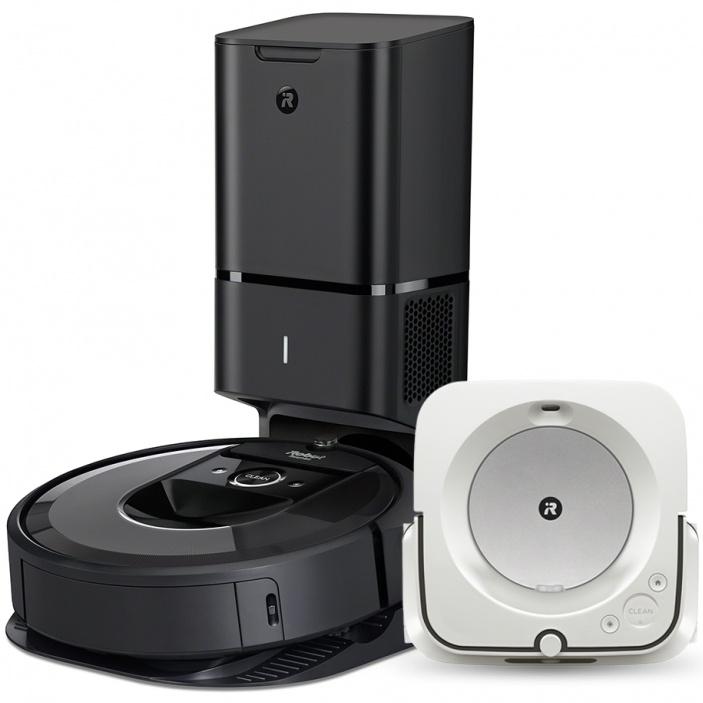 Akční set iRobot Roomba i7+ grey a Braava jet m6