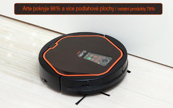 Robotický vysavač iClebo Arte pokrytí plochy