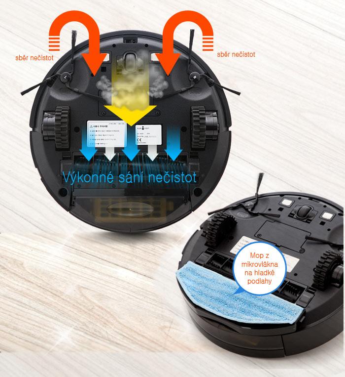 Robotický vysavač iClebo Arte je vybaven mopem