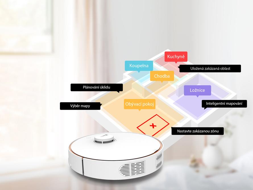 360 S7 PRO - Inteligentní mapování místností