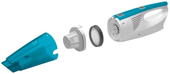 Concept VP4200 Princip cyklonového vysávání