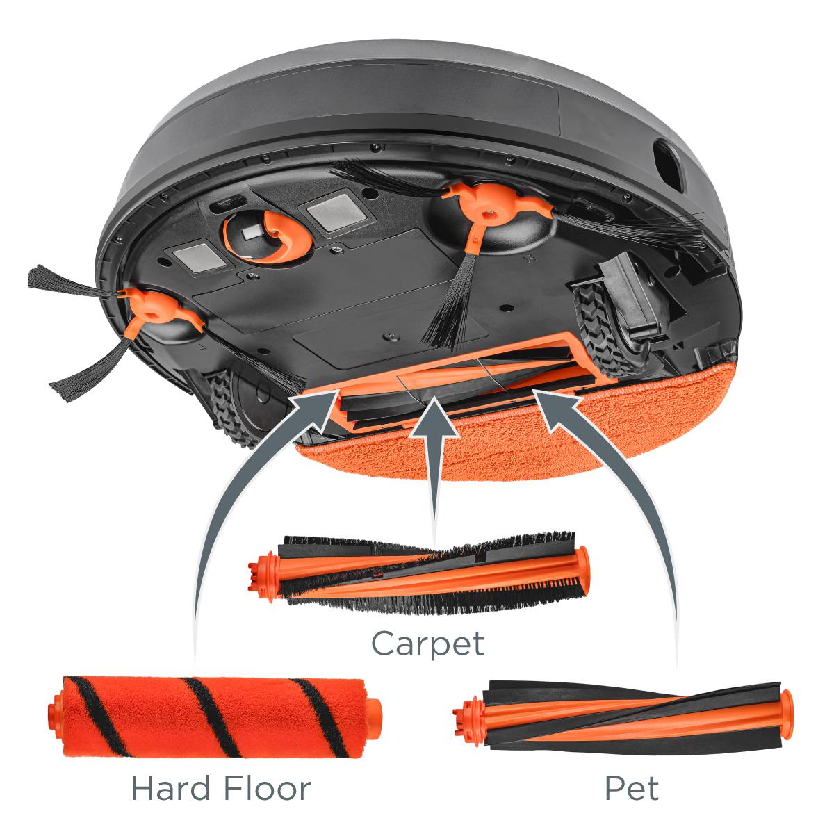 Concept VR3110 2v1 RoboCross Laser - Přizpůsobí se vaší domácnosti