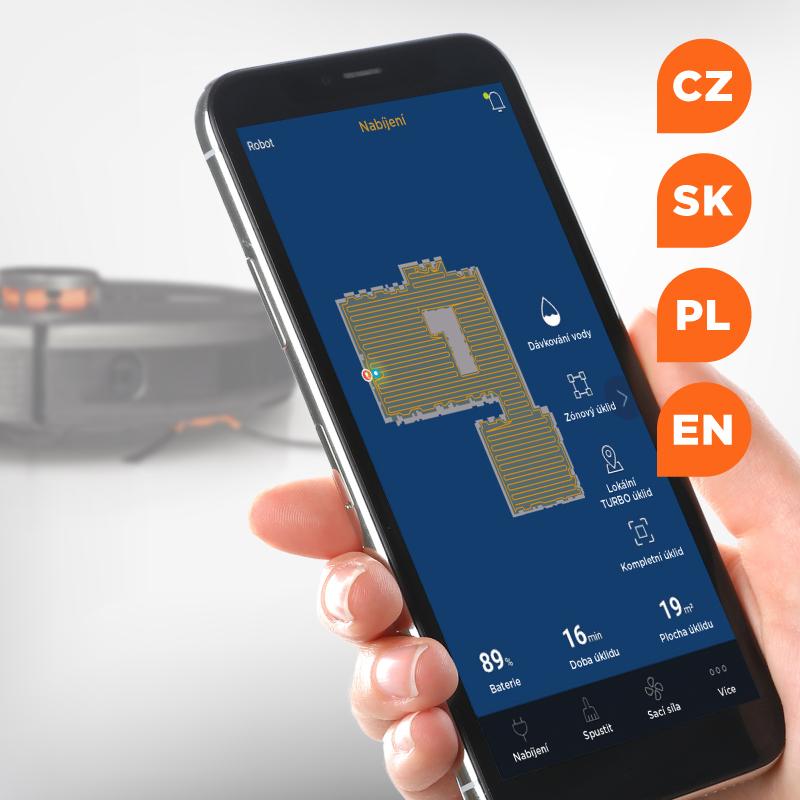Concept VR3110 2v1 RoboCross Laser - Ovládání přes aplikaci