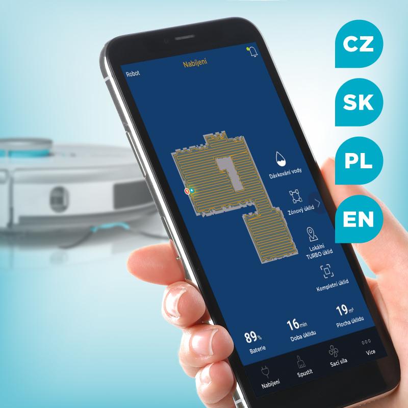 Concept VR3120 2v1 Perfect Clean Laser - Ovládání přes aplikaci