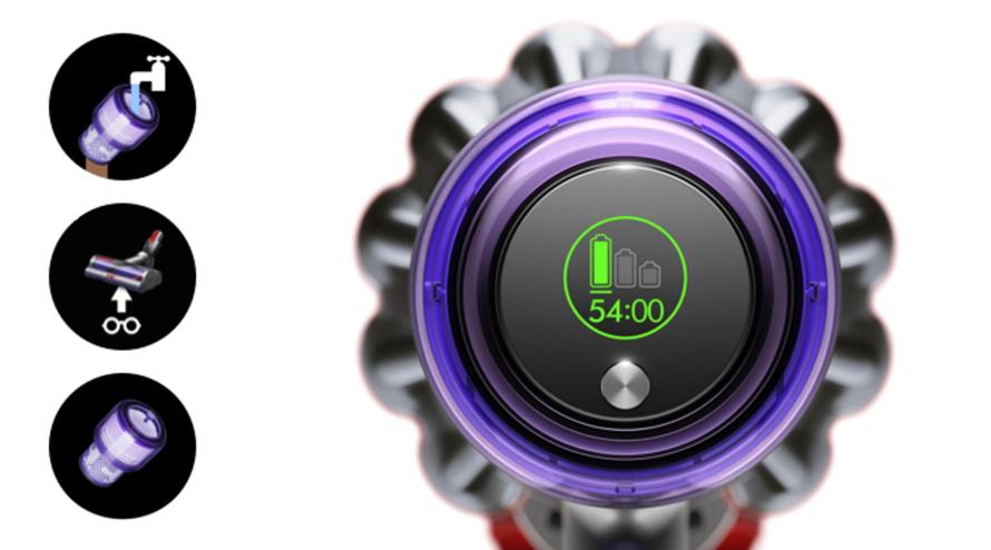 Dyson V11 Absolute Extra Pro - Informuje v reálném čase