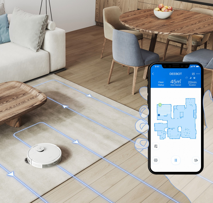 Ecovacs Deebot n8 pro plus - mobilní aplikace