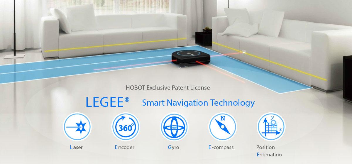 Hobot Legee 688 navigace