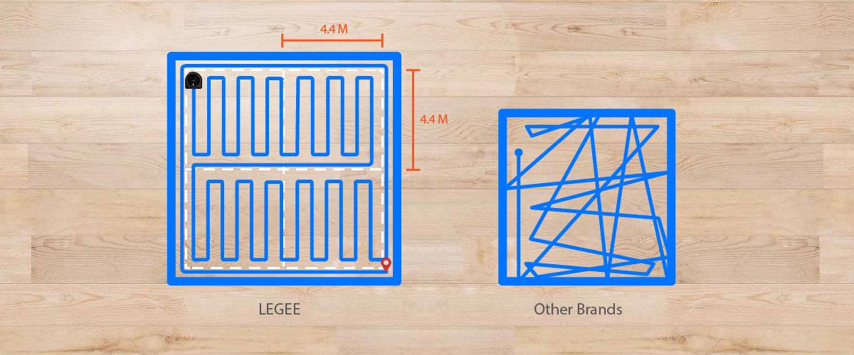 Hobot Legee 688 optimalizace a rozdělení větších ploch