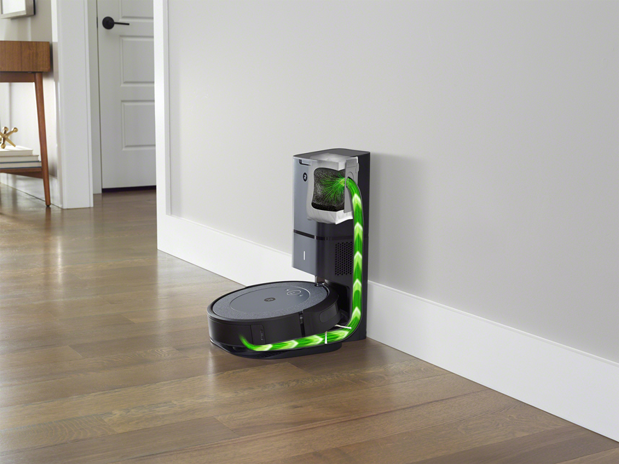 iRobot Roomba i3+ Neutral vysypání odpadového koše
