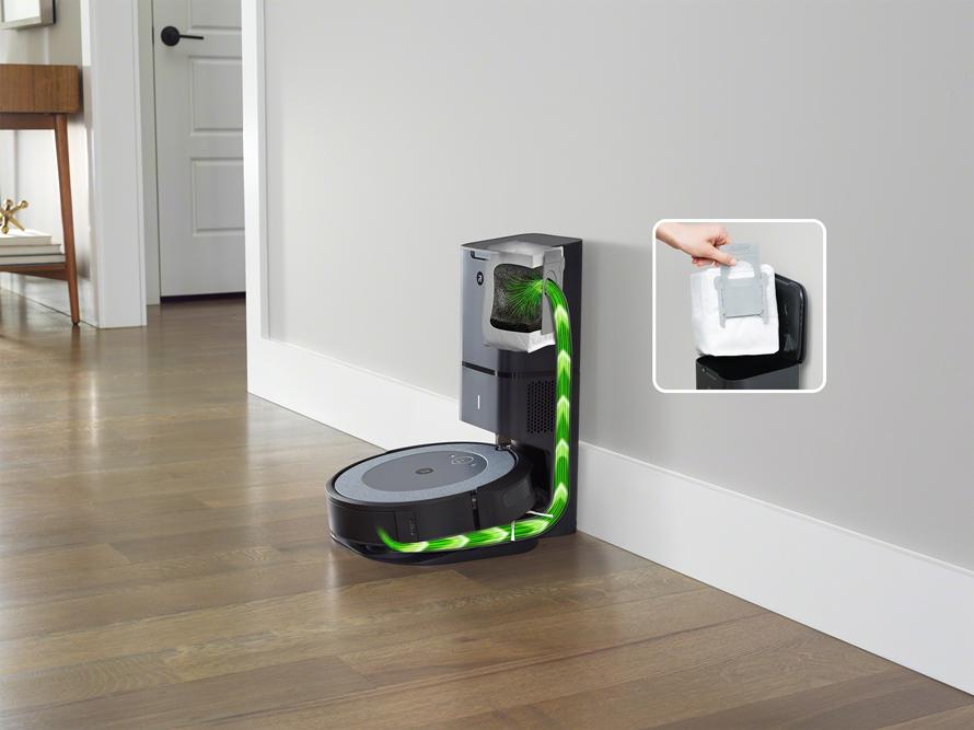 iRobot Roomba i3+ Light vysypání odpadového koše