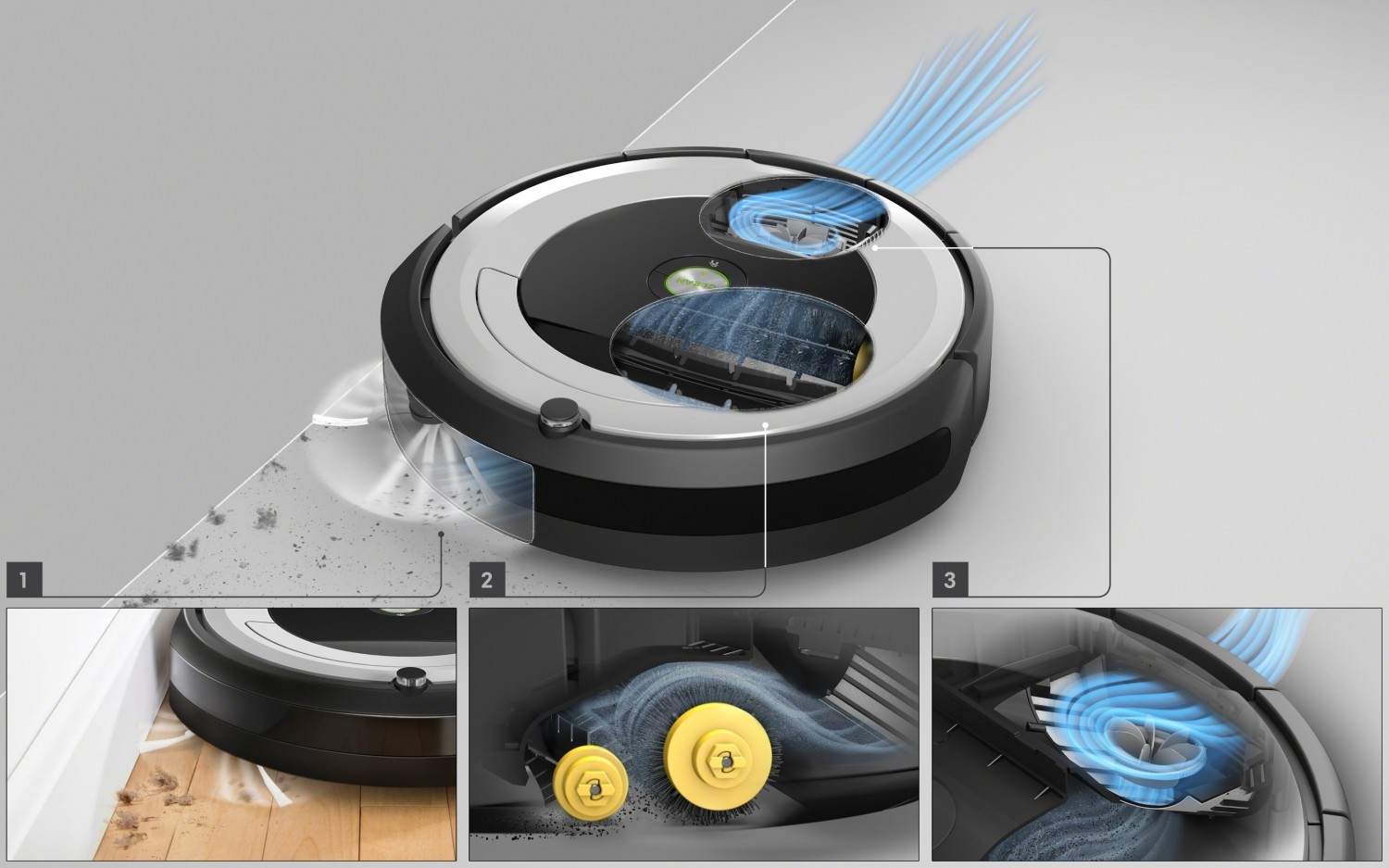 iRobot Roomba e5 - system aeroforce