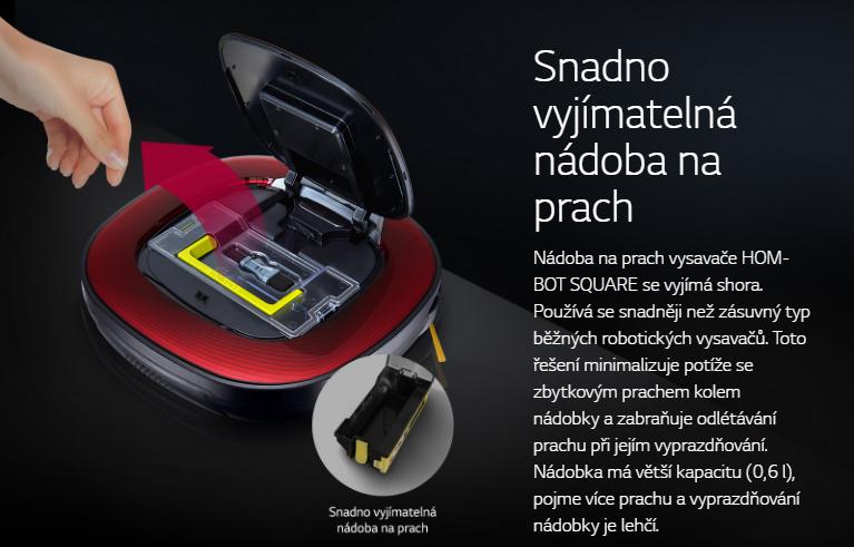 vysavač LG Hom-Bot VR86010RR