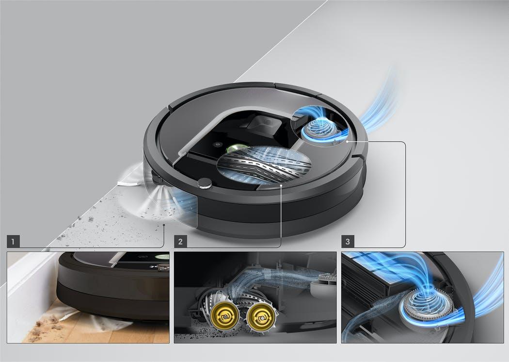 irobot roomba 975 Třístupňový čisticí systém AeroForce