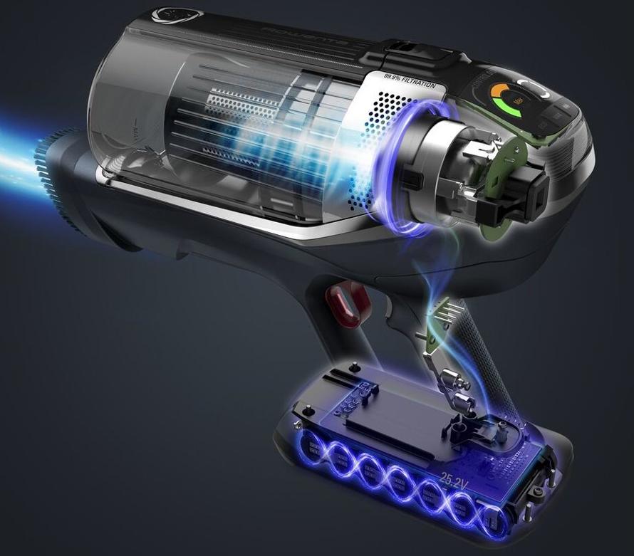 Rowenta RH9990WO výkon baterie