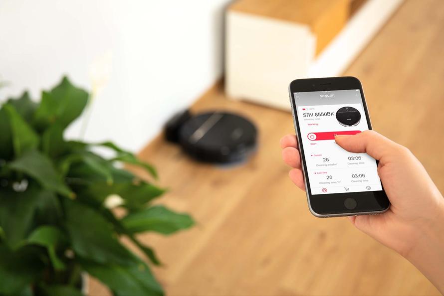 Sencor SRV 8550BK mobilní aplikace