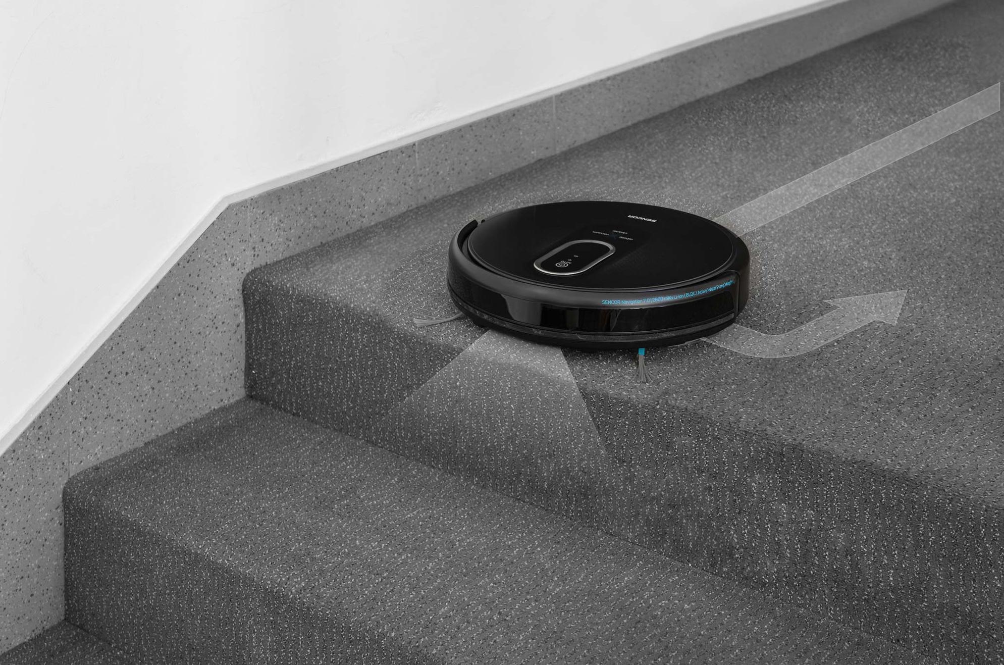 Sencor SRV 6250BK S infračervenými senzory nespadnu ze schodů