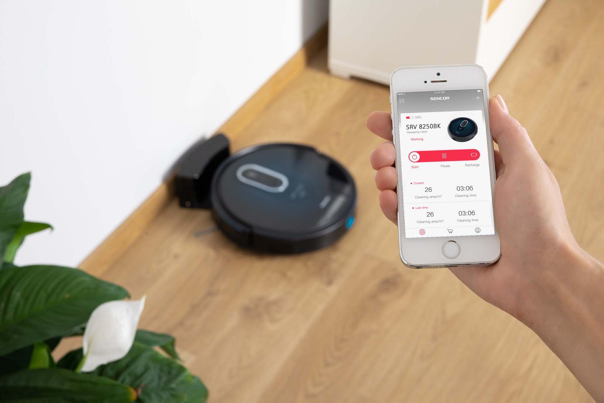 Sencor SRV 8250BK Užijte si ovládání prostřednictvím mobilní aplikace