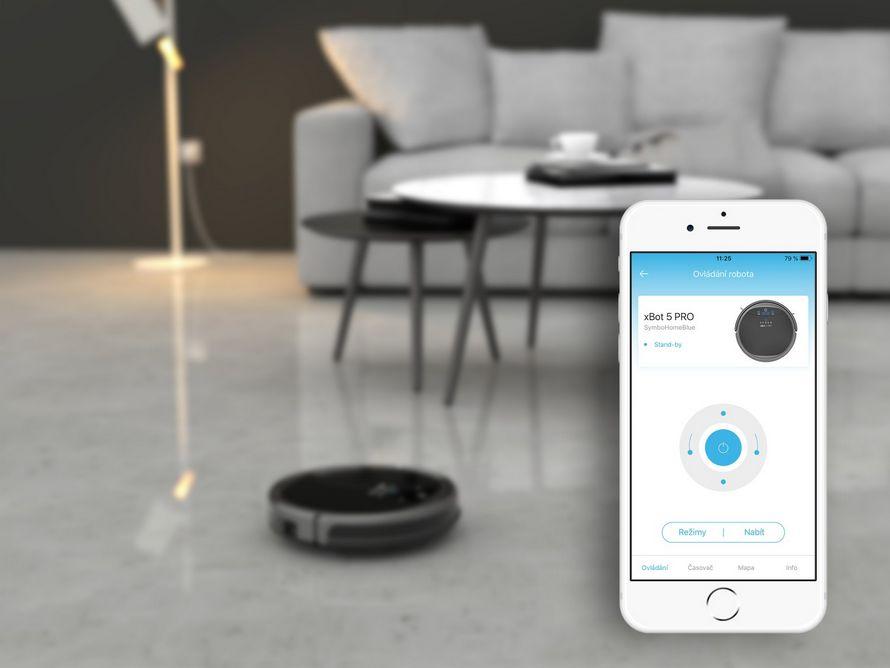 symbo xbot 5 PRO wifi ovládání aplikace