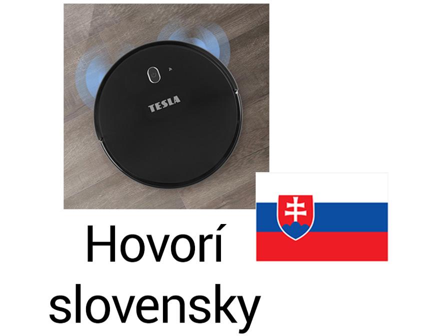 Tesla RoboStar iQ300 Black - aplikace ve slovenském jazyce