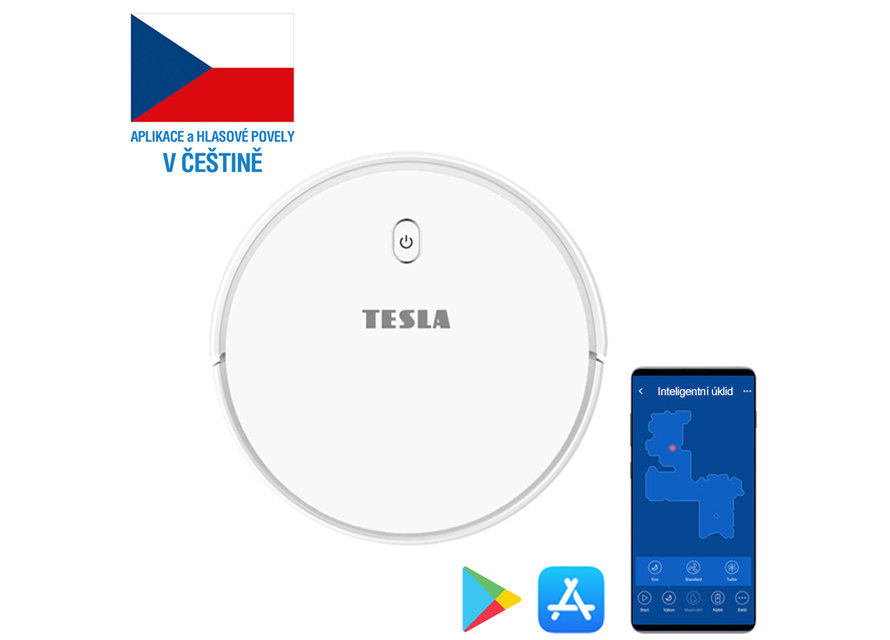 Tesla RoboStar iQ300 - Mluví česky, aplikace v českém jazyce