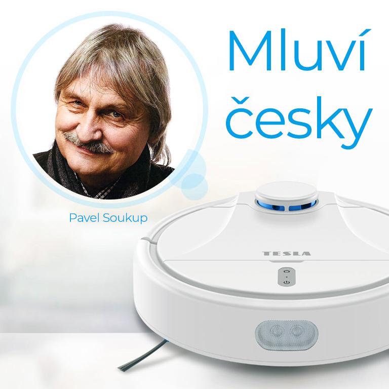 Tesla RoboStar iQ500 česky mluvící robotický vysavač