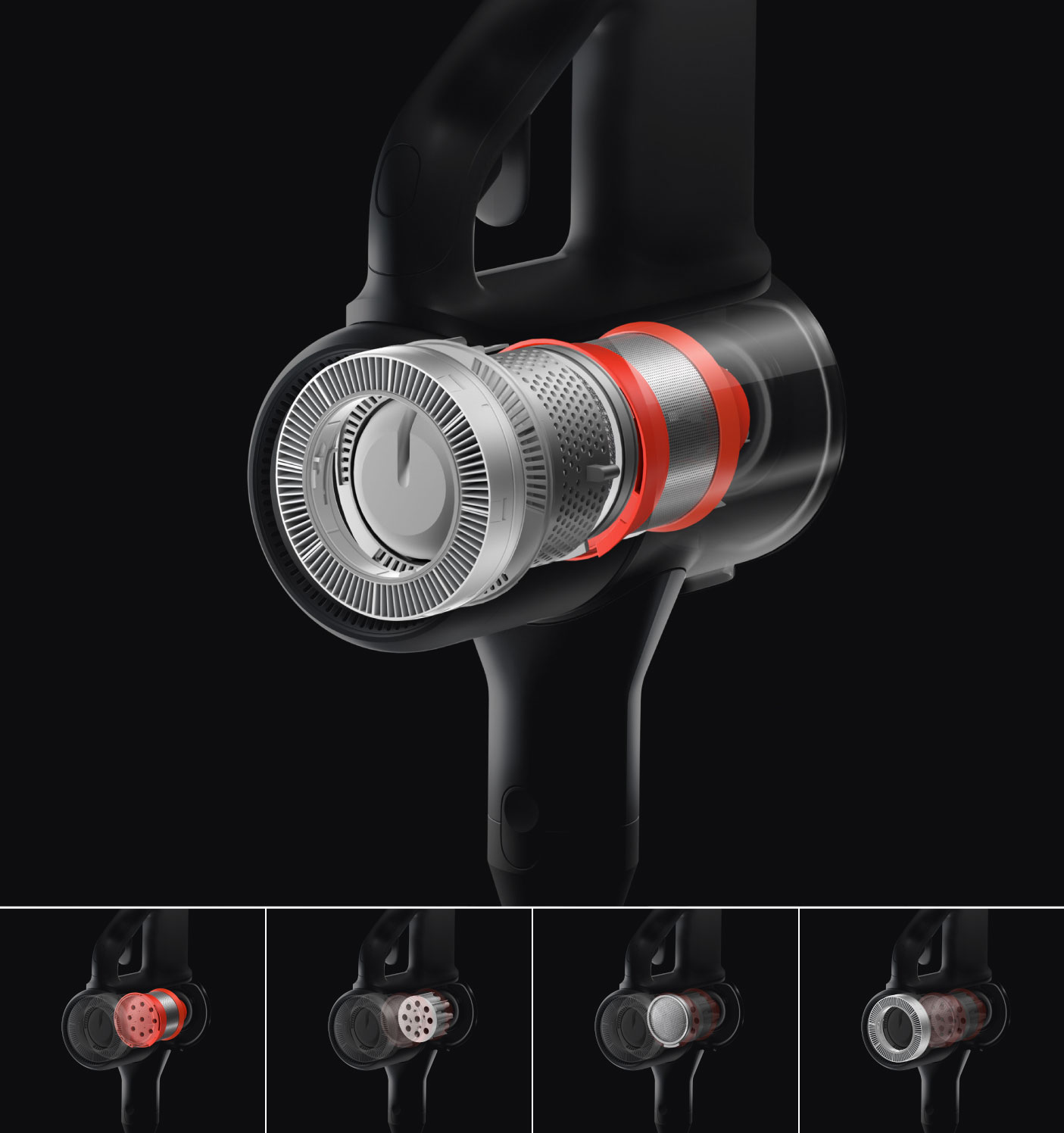 Xiaomi Mi Handheld Vacuum Cleaner pětistupňová filtrace