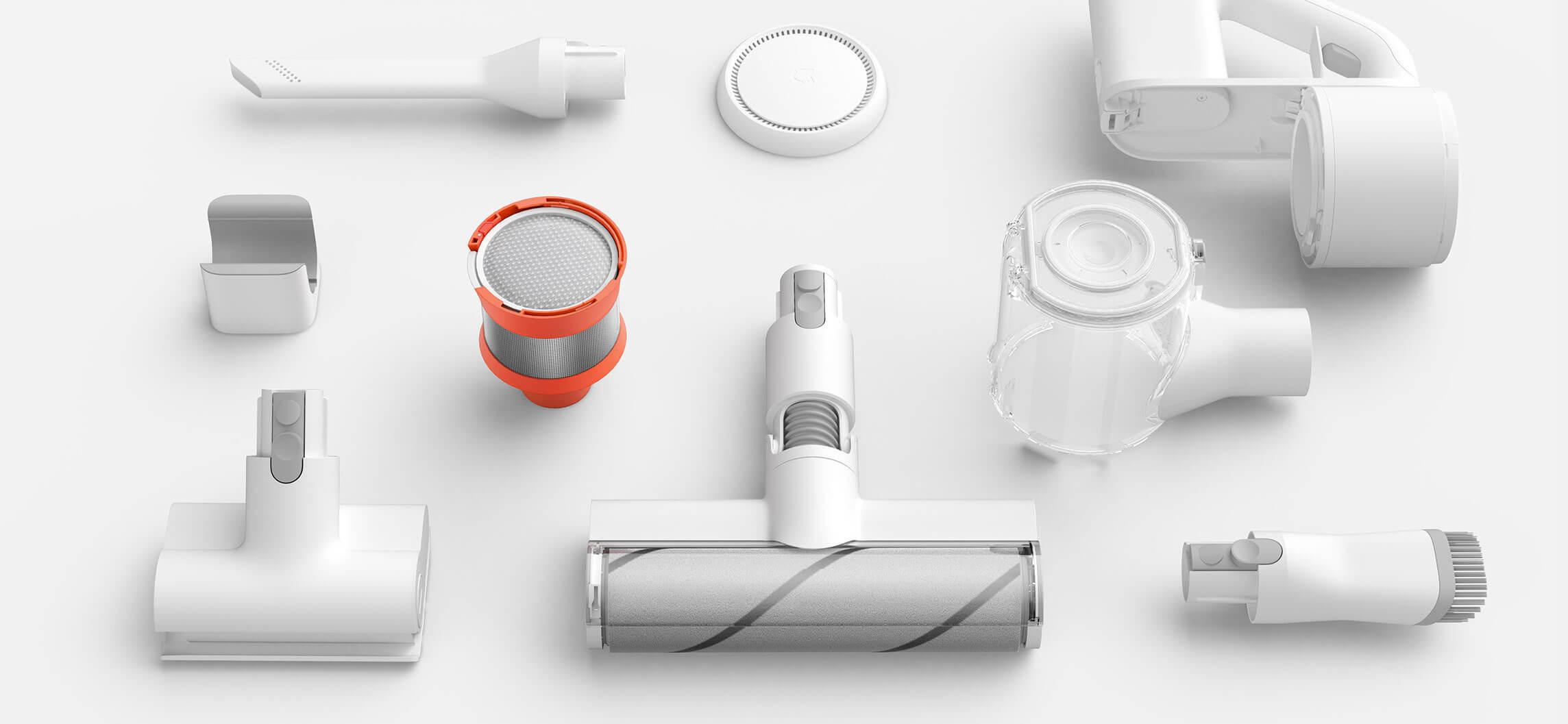 Xiaomi Mi Handheld Vacuum Cleaner výběr z mnoha kartáčů
