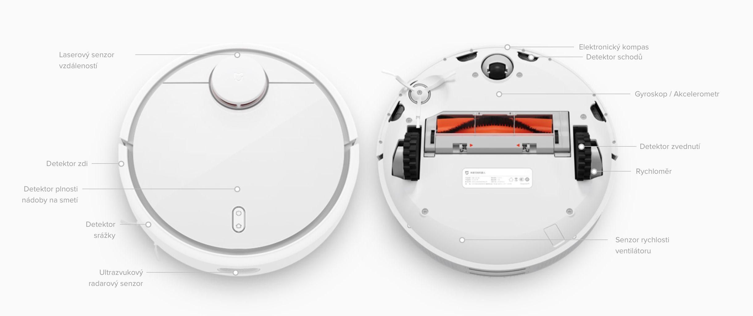 Xiaomi Mi Robot - dokonale orientace v prostoru