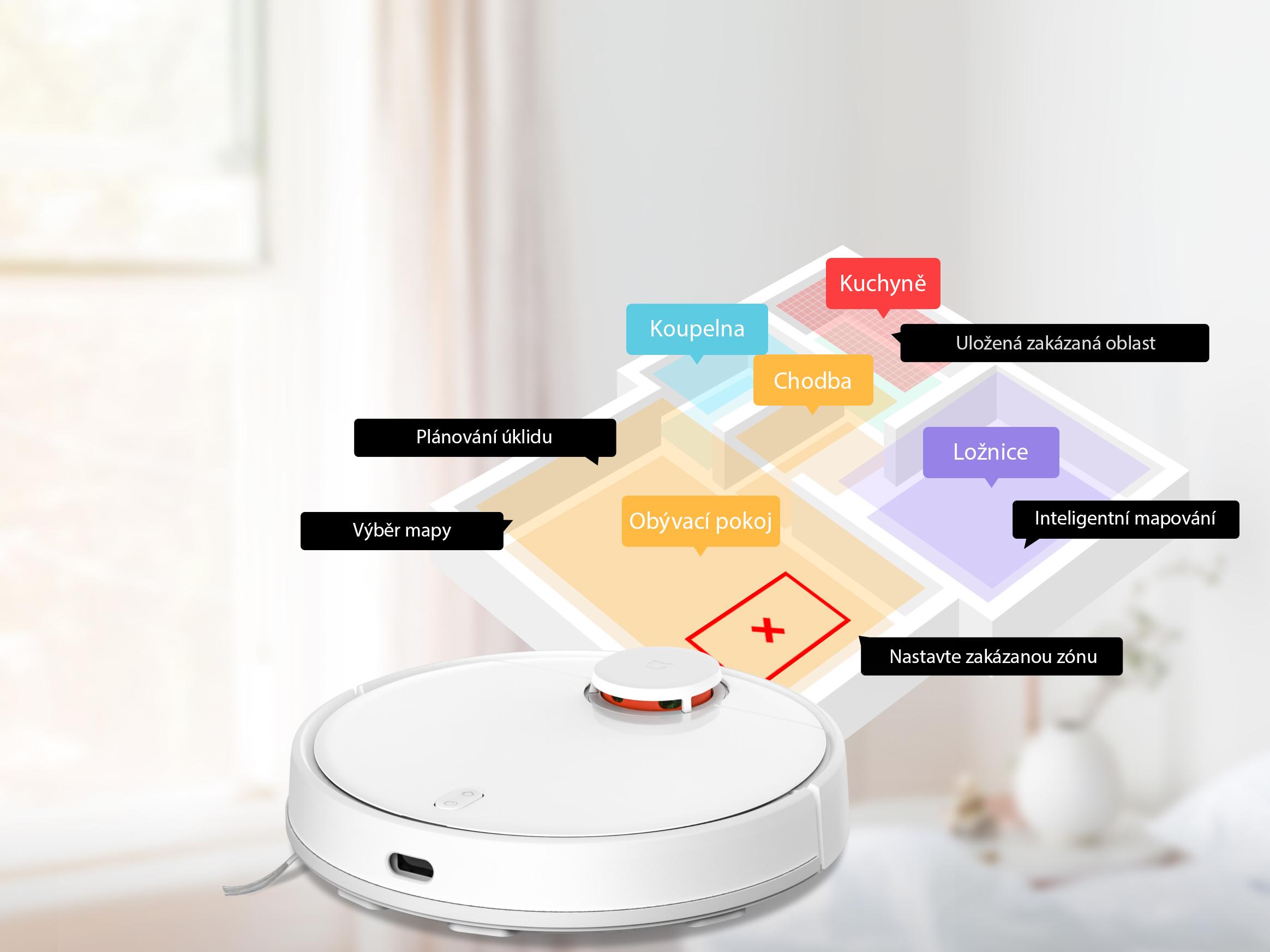 Xiaomi Mi Robot Vacuum Mop Pro překonávání překážek