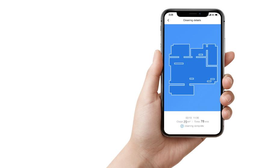 xiaomi roborock e4 - mobilní aplikace