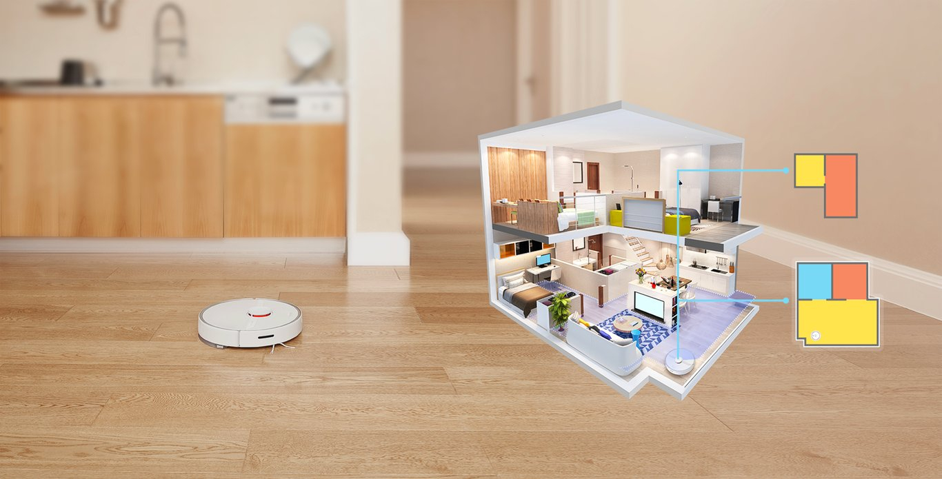 xiaomi Roborock s6 pure white - floor plan