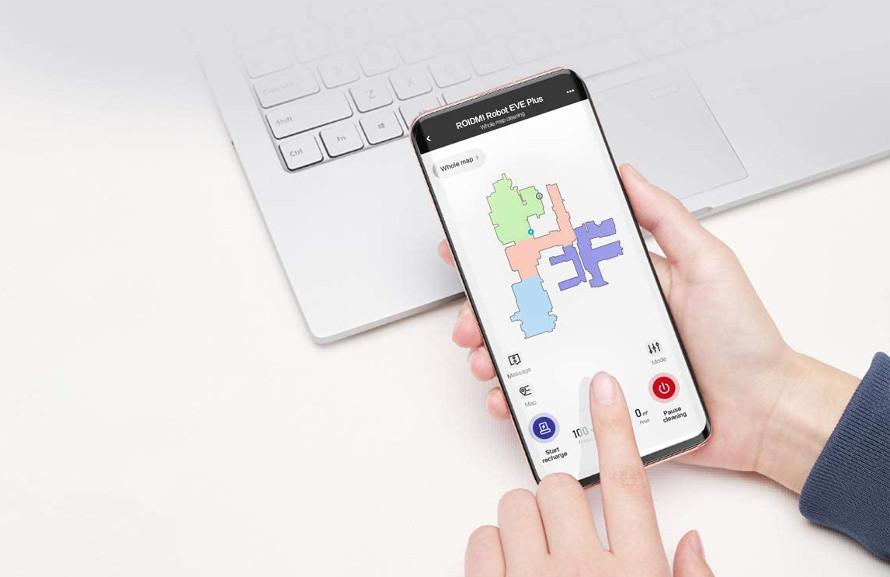 Xiaomi Roidmi EVE Plus - ovládání mobilní aplikací